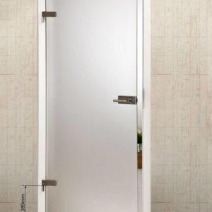 Стеклянная дверь с затемненной частью