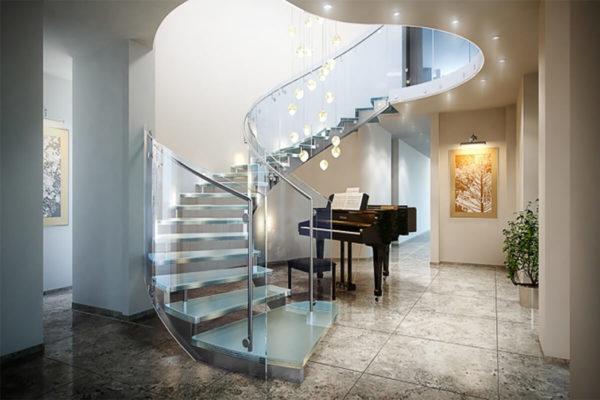Роскошная стеклянная лестница