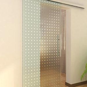 Раздвижная стеклянная дверь с орнаментом