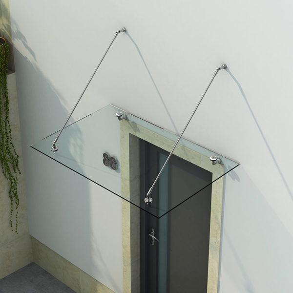 козырек из каленого стекла